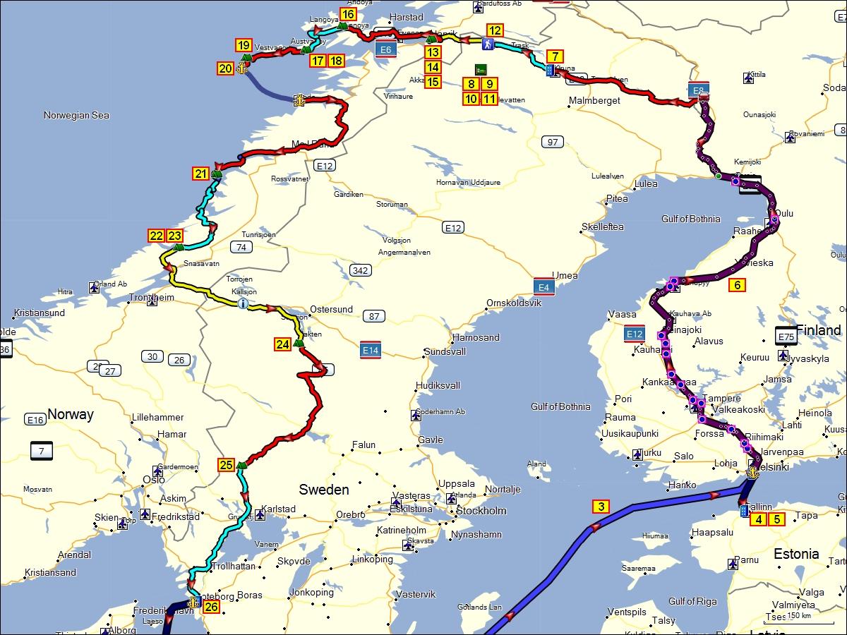 Karte Norwegen Schweden.Estland Finnland Norwegen Und Schweden Sommer 2013